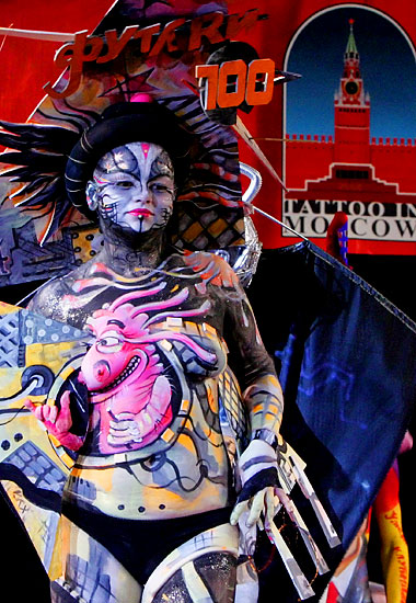 tatoo bodypainting bodyart piercing festival in moscow