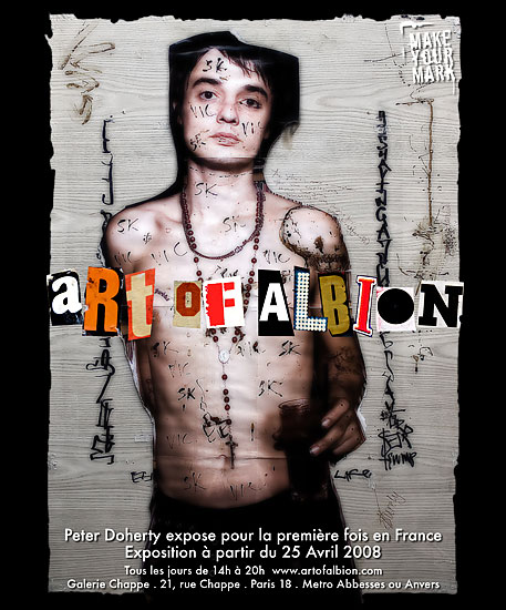 Art of Albion by Pete Doherty, Chappe Gallery, Paris