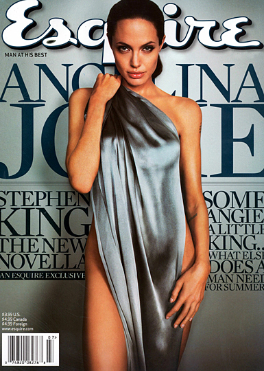 esquire cover with angelina jolie