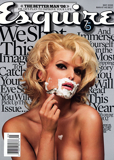 jessica simpson shaving esquire magazine cover