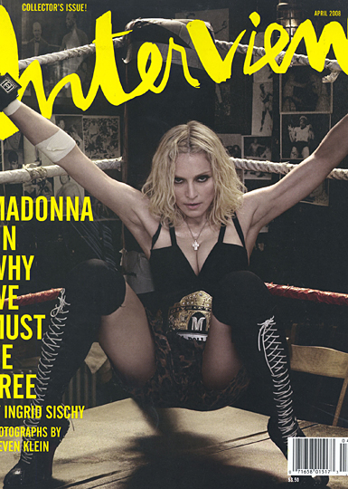 interview magazine cover with madonna