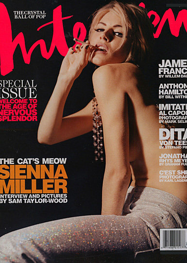 sienna miller on the cover of interview magazine