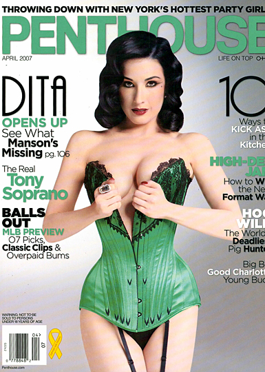 penthouse cover with dita von teese