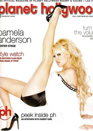planet hollywood magazine presents pamela anderson