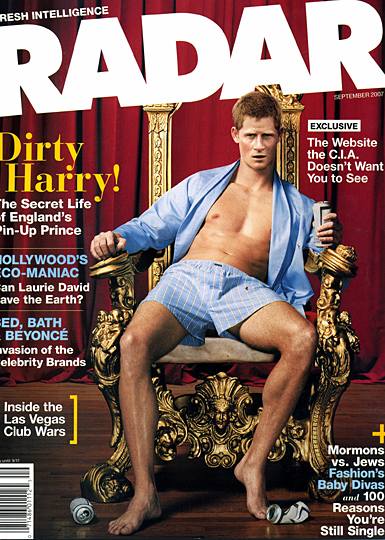 dirty harry radar magazine with prince harry