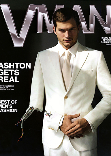 vman magazine cover - ashton kutcher