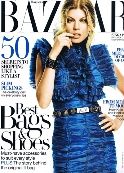 Fergie - Harper's Bazaar SINGAPORE May 2008 cover