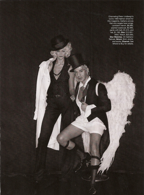 john galliano and carmen kass photo editorial by peter lindbergh