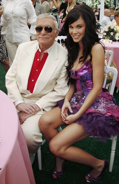 2008 Playmate of the Year Jayde Nicole & Playboy magazine founder Hugh Hefner