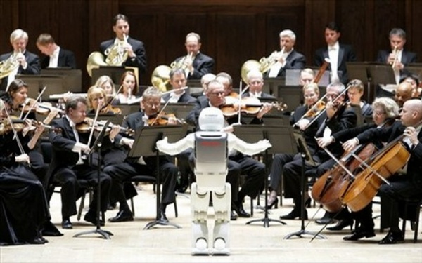 asimo robot conducts orchestra in detroit