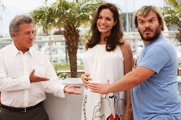 kung-fu panda promotion with angelina jolie jack black and justin hoffman
