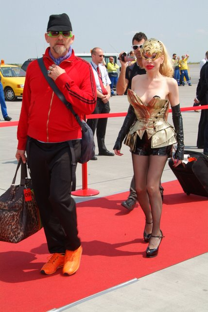 amanda lepore arrives to life ball vienna