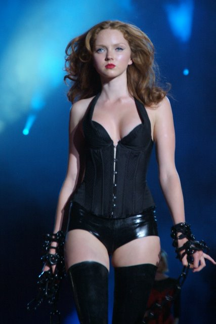 lily cole wearing sexy lingerie by agent provocateur
