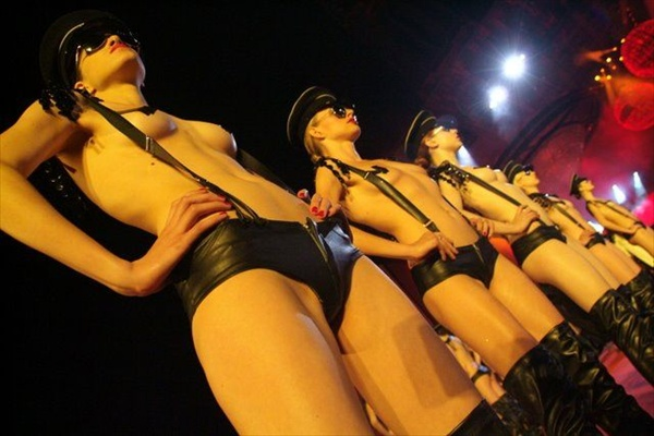 agent provocateur lingerie fashin show during event life ball 2008 in vienna