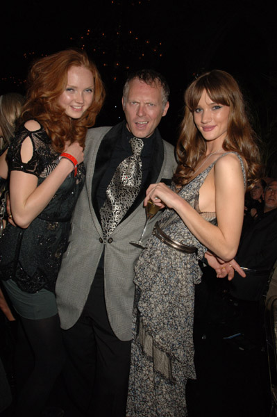 joseph corre with lily cole - backstage agent provocateur vienna life ball 2008