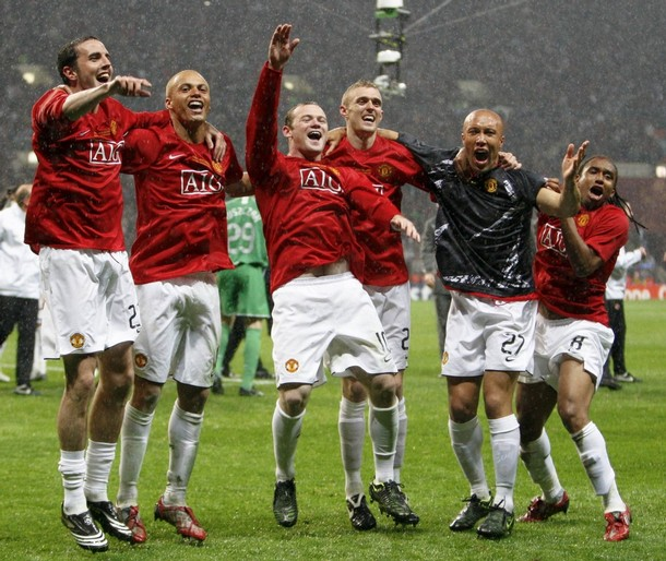 manchester united champions league champion 2008 final in Moscow