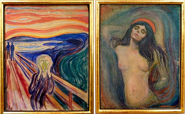 The Scream and Madonna by Edvard Munch