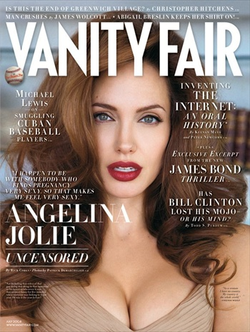 Angelina Jolie - Vanity Fair July 2008 cover