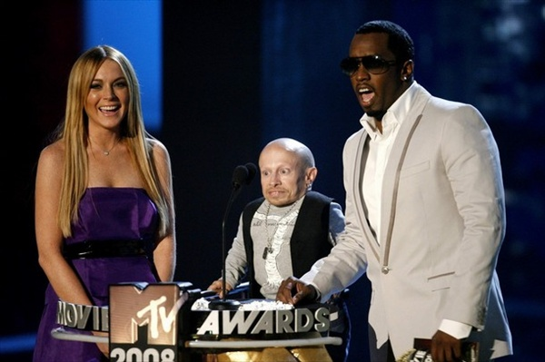 lindsay lohan verne troyer and sean diddy combs