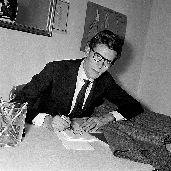 yves saint laurent becomes the head of christian dior in 1957 at the age of 21