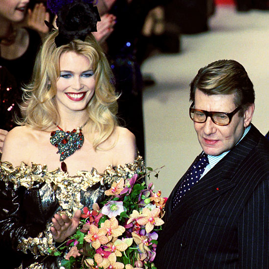 yves saint laurent and claudia schiffer