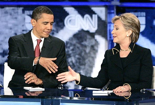 hillary clinton and barack obama debate in university of texas