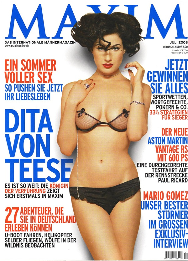 dita von teese on the cover - photo for maxim magazine