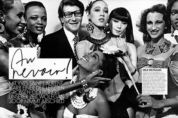 tribute to yves saint laurent in vanity fair germany june 2008