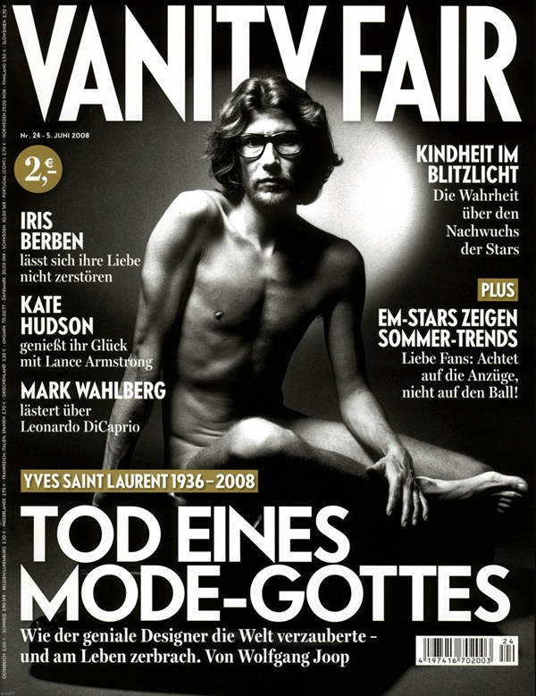 young yves saint laurent on the cover of vanity fair