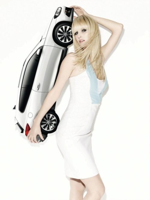 Next Top Models make calender with VW Scirocco