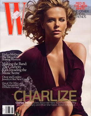 charlize theron w magazine cover