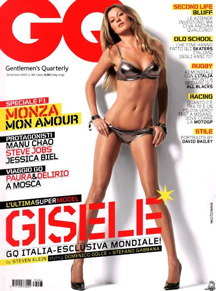 gq september italia 2007 feat gisele bundchen