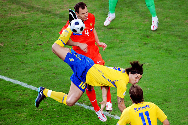 zlatan ibrahimovic sweden against russia