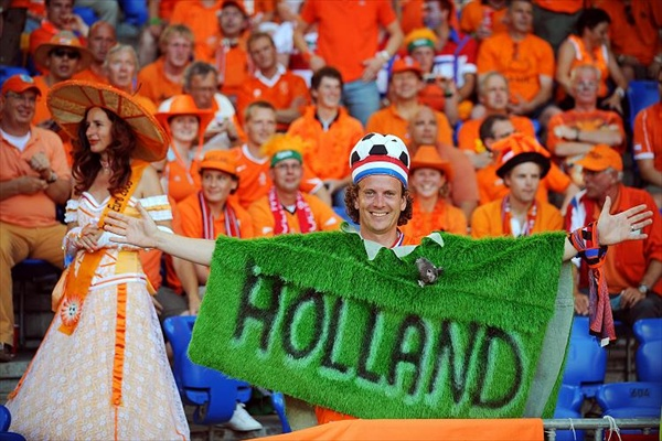 Oranje, football euro-2008 fans from Holland