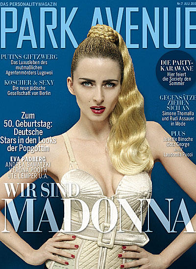 park avenue july 2008 cover wir sind madonna