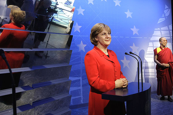 Angela Merkel wax figure