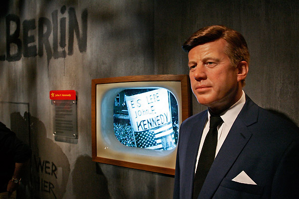 John F Kennedy wax figure