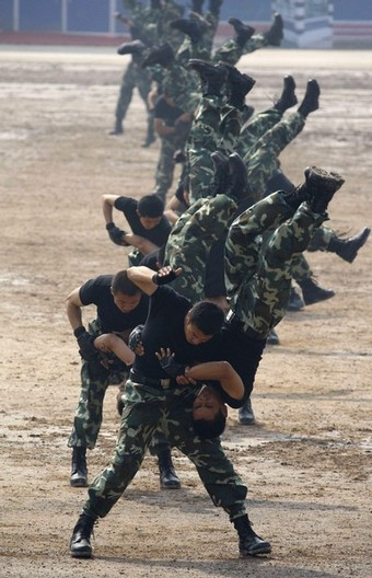 antiterror training paramilitary policemen chinese forces prepare for olympic games 2008 in beijiing