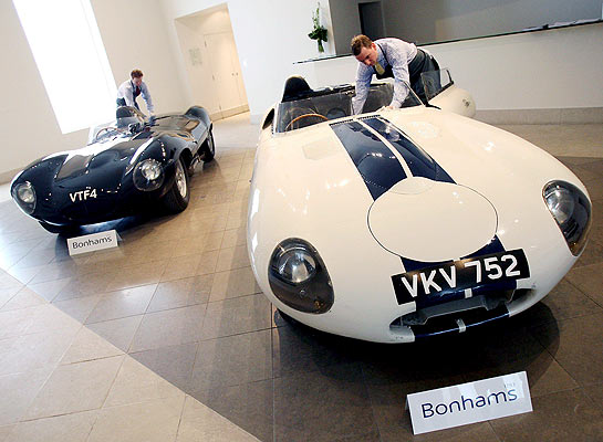 Jaguar D-Type and Jaguar E2A are expected to be auctioned at Bonhams in California