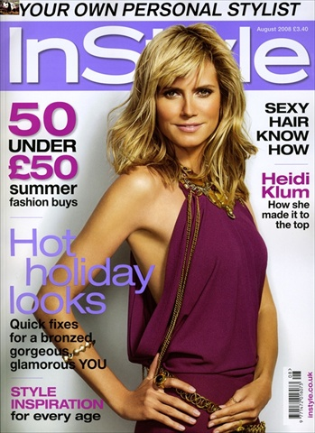 Heidi Klum on the cover of InStyle UK August 2008