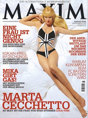Marta Cecchetto in Maxim Germany August 2008 cover