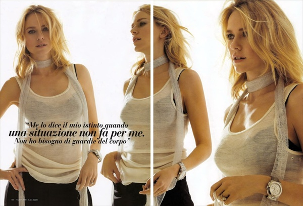 Naomi Watts Vanity Fair July 2008 Italy