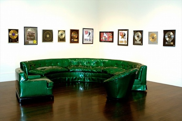 PVC couch green