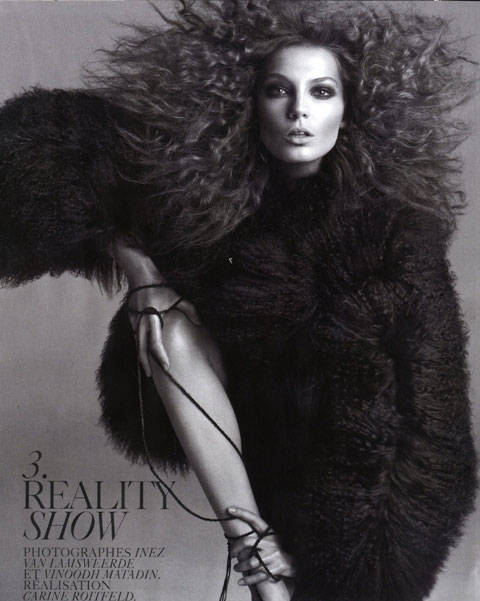 Daria Werbowy editorial Reality Show Vogue France 08/2008