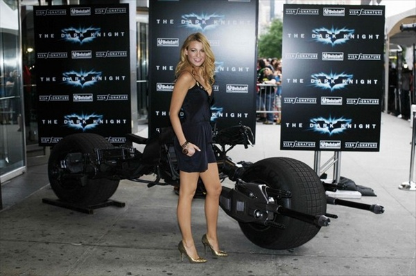 Blake Lively and the Bat-pod