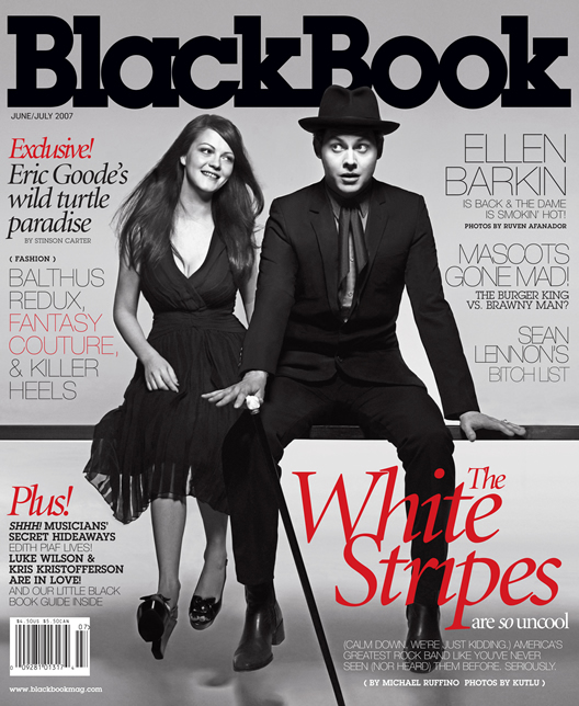 Black Book Magazine feat The White Stripes on the cover