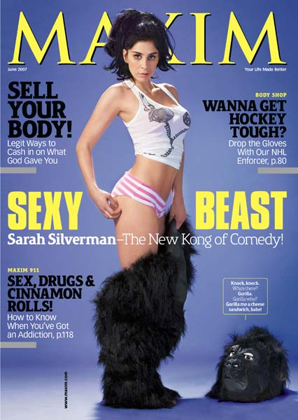 Sarah Silverman featured on the cover of Maxim June 2007