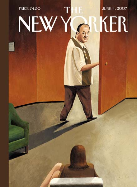 James Gandfolfini as Tony Soprano, illustration on the cover of The New Yorker June 2007