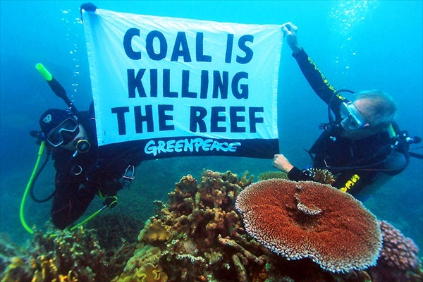 Greenpeace: Coal is killing the Reef
