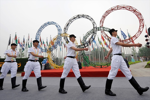 opening ceremony for the Athletes village in Beijing